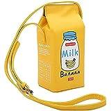 Women Fruits Banana Strawberry Milk Box Cross Body Purse Bag Women Phone Wallet Shoulder Bags