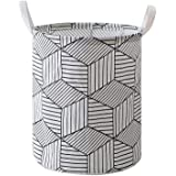 Large waterproof collapsible canvas basket barrel, with handles, can be used as storage boxes, children's toys storage, house