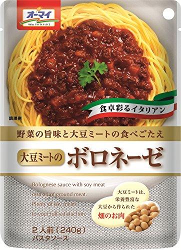 オーマイ 野菜の旨みと大豆ミートの食べごたえ 大豆ミートのボロネーゼ 2人前 240g