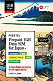【在庫限り】FREETEL Prepaid SIM for JAPAN (1GB Data SIM (micro)) 上网卡 上網卡 日本?付上网卡 日本?付上网卡