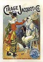 Cirage Jacquot & Cieヴィンテージフランスサーカス広告Reproduction Rolledキャンバス印刷24x 33で。