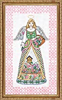 "Spring Angel-Jim Shore Counted Cross Stitch Kit-9""X15"" 14 Count (並行輸入品)"