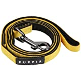 Authentic Puppia Two Tone Lead, Yellow, Medium