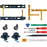 Mcbazel 18 in 1 Replacement Repair Kit for NS Switch Joy-Con with Screwdrivers Opening Tool, 3D Left Right Analog Joysticks,