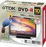 TDK 録画用DVD-R デジタル放送録画対応(CPRM) 1-16倍速 インクジェットプリンタ対応(ホワイト・ワイド) 10枚パック 5mmスリムケース DR120DPWC10UE