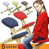 北欧スタイル スタイルチェア バランスチェア 学習椅子 学習チェア 北欧デザイン 木製 パステルカラー おしゃれ 学習机 椅子 BC-101 (レッド)