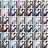 (オンラインで購入しやすいです) BUYEONLINE メンズファッションジャガードストライプフォーマルネクタイレッドブラック
