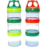 Stackable Snack Container for Kids and Adults | 2x25 oz | Meal prep Box, Snack Stacker, Snack Tower, Twist 'n Lock Food Jar |