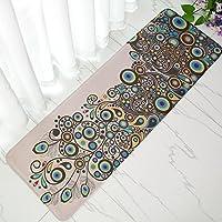 Incxノンスリップキッチンマットドアマットバスマット玄関ラグインドア/アウトドアフロアマット16インチby 47-inch ブルー 180320-kitchen rugs-Peacock