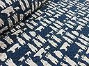 しろくまの親子 ネイビー紺 キルト キルティング 生地 布地|綿 コットン
