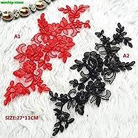 花嫁のベールのウェディングドレスシューズベルト用2017 NEW DIY 3D赤と黒の車の骨のレースの花のpacth衣服の付属品:B2