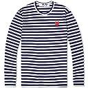 COMME des GARCONS コムデギャルソン PLAY stripe LADY 039 S レディースlong T-shirts ロングTシャツ Mサイズ NAVY(ネイビー)