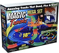 Magic Tracks Mega Set with RED & BLUE Car   As Seen on TV   360 Piece Glowing 18' Track Set [並行輸入品]