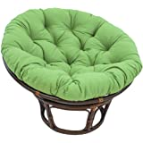 Round Solid Color Papasan Chair Cushion,Overstuffed Hanging Egg Chair Cushion,Patio Swing Chair Pad Round Hanging Egg Hammock