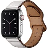 KYISGOS Compatible with iWatch Band 40mm 38mm, Genuine Leather Band Strap Compatible with Apple Watch Series 5 4 3 2 1 38mm 4