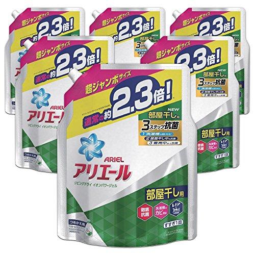 【ケース販売】 アリエール 洗濯洗剤 液体 リビングドライイオンパワージェル 詰め替え 超ジャンボ 1.62kg×6個