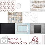 おしゃれな写真用背景紙 スマートスタジオ 8種セット A2サイズ (Simple&shabby chic)