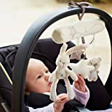 NeatoTek Baby Hanging Rattle Toys Soft Baby Music Plush Activity Crib Stroller Toys Rabbit Star Shape for Toddlers Baby Girls