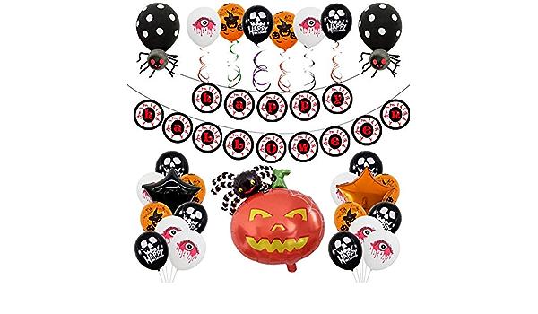Amazon Co Jp Houpwyet Halloween Decoration Set Balloons Garlands Bats Spiders Decoration Events Fancy Dresses School Festivals Celebrations Cultural Festivals Atmosphere Fashionable Balloon Set Popular Present Set Of 4 Home Kitchen