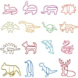 80Pcs Paper Clips for Kids Animal Shaped Paperclip Fun Paper Clips Assorted Colors Paperclip Coated Bookmark Clips Office Sup