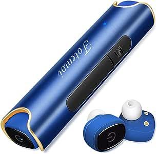 Bluetooth イヤホン 高音質 ワンボタン設計 軽量 防水 スポーツイヤホン 片耳 両耳 カナル型 Bluetooth 5.0 ワイヤレス ヘッドセット マイク内蔵 通話可 iPhone Android 対応 (ブルー)