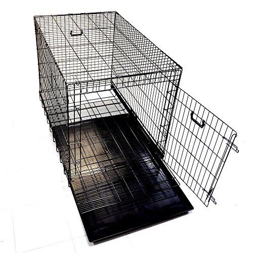 ペットに清潔な住まい プチリュバンペットケージ XL 幅106×奥行69×高78cm 折畳式・スノコ付 トレイ付