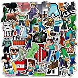 Nertpow Minecraft Stickers Decals 50 Pack Video Game Theme Funny Stickers for Minecraft Lovers Best Gift