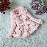 (ガオルイ)Gaorui ガールズアアウターウエア コート 毛皮ジャケット ジャンパー 綿服 上品 別珍ジャケット 柔らか お洒落 可愛い 暖かさを守る ピンク ホワイト イエロー