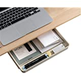 YJMZ Under Desk Drawer ,Desk Drawer Attachment ,Self-Adhesive Hidden Slide-Out Pen Type,Pencil Drawer,Can Save The Space Of O