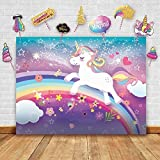 Glittery Garden Magical Unicorn Theme Photography Backdrop And Studio Props Diy Kit Great As Photo Booth Background Rainbow B
