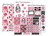 Shades of Pinksステッカー| Plannerアクセサリー| Plannerステッカーfor the Erin Condren垂直Life Planner ピンク