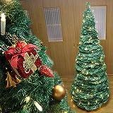 アコーディオンツリー 180cm (クリスマスツリー おりたたみ式 フォールディング 室内 装飾 コンパクト 収納便利)