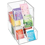 mDesign Plastic Kitchen Pantry, Cabinet, Countertop Organizer Storage Station with 3 Drawers for Coffee, Tea, Sugar Packets,