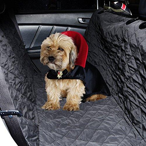 OUTAD 車用 ペットシート汚れ防止 防水マット ペット用ドライブシート 折りたたみ式 (ブラック)