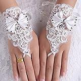 Amazon.co.jpウェディング グローブ 純白 花嫁 手袋 Happy Wedding (C-type)