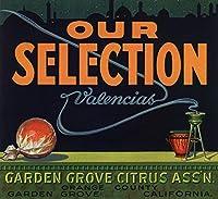 Our Selectionブランド–ガーデングローブ、カリフォルニア–Citrusクレートラベル 24 x 36 Giclee Print LANT-57610-24x36