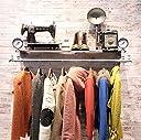 衣料品店のラックディスプレイスタンド レトロソリッドウッドの水パイプは 老人と女性の服店デコレーション棚 服の壁ラック (色 : Make old rust)