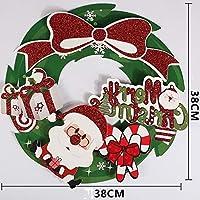 YSYYSH 紙のクリスマスリースクリスマス飾りクリスマスドア花輪ウィンドウステッカー3次元立体をぶら下げ五芒星の装飾品 窓のステッカー