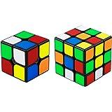 QiYi Magic Cube [2020最新] 魔方 3x3 競技用 立体パズル ポップ防止 (ブラック 2個)