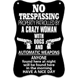 WaaHome No Soliciting Trespassing Sign for House Door Business Yard 11.8''X7.8'' 11.8''x7.8''