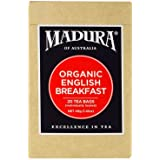 Madura Organic English Breakfast 20 Enveloped Tea Bags, 1 x 40 g