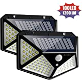 Solar Motion Sensor Lights, 2win2buy 100 LED Outdoor Night Security Wall Light with 【270°Wide Angle】【3 Optional Modes】【IP65 W