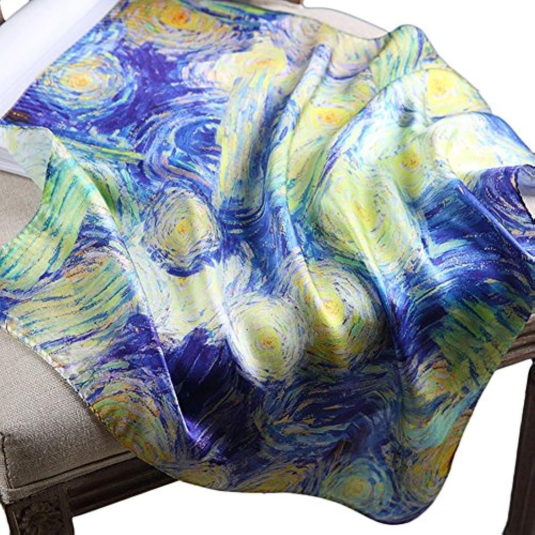 フランクワースリー厄介なハードリング[スゴフィ]SGFY レディース スカーフ シルク 風 調 スカーフ 50cm 角正方形 大判正方形 スカーフ 贈り物 ギフト 母の日 プレゼント ネッカチーフ オフィススカーフ (C14)