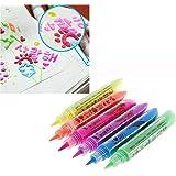Dragon Honor カラーペン ポップコーンペン マジックのペン ふくらむカラーペン 3D効果 ペンセット 描画 落書き 塗り絵 DIY 6色セット (6色セット)