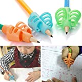 3Pcs Set Pencil Grips - Pencil Grips for Kids Handwriting Aid Grip Trainer Posture Correction Finger Grip for Kids, Adults, A