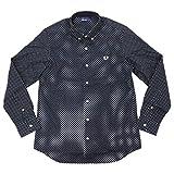 (フレッドペリー)FREDPERRYシャツ長袖メンズポルカドットプリント日本企画サイズMネイビー