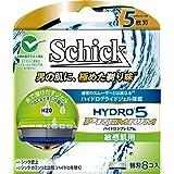 シック Schick 5枚刃ハイドロ5 プレミアム 敏感肌用 替刃 8コ入 男性カミソリ
