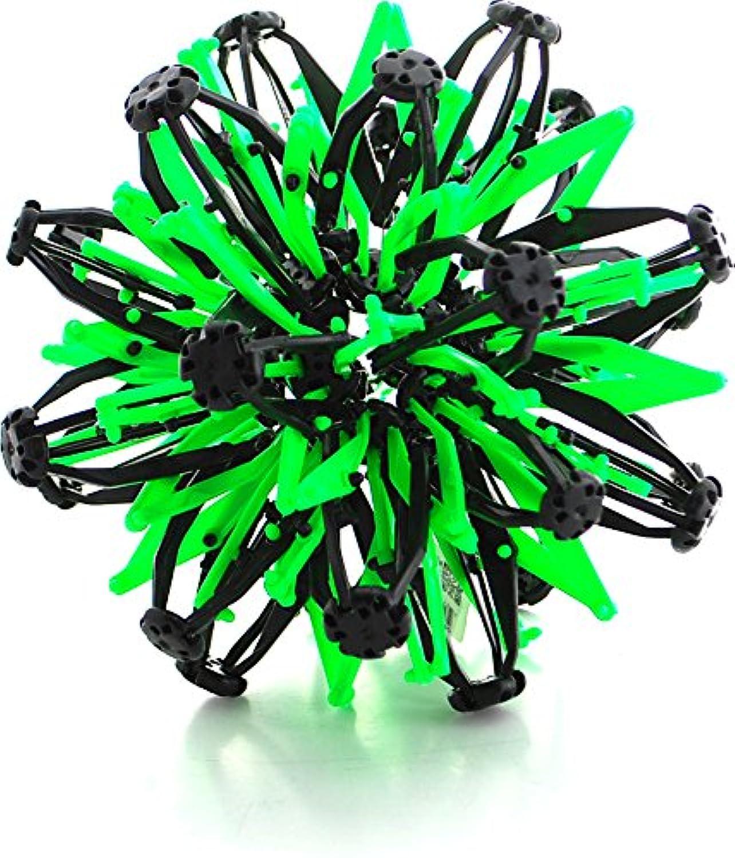 ミニ球おもちゃリングストレッチExpandingボールおもちゃ面白いfor Kids – グリーンブラック