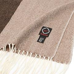 Ascot Cashmere Herringbone Multi Color Scarf: Brown
