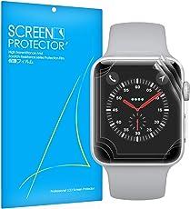 Apple Watch Series 4 44mm 保護フィルム Qosea 貼り直し可 気泡ゼロ ケースに干渉せず 3枚セツト 99% 透過率 3Dtouch対応 超薄型 指紋飛散防止 厚さ0.16mm